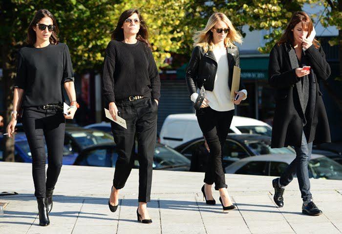 Как одеться во все черное стильно